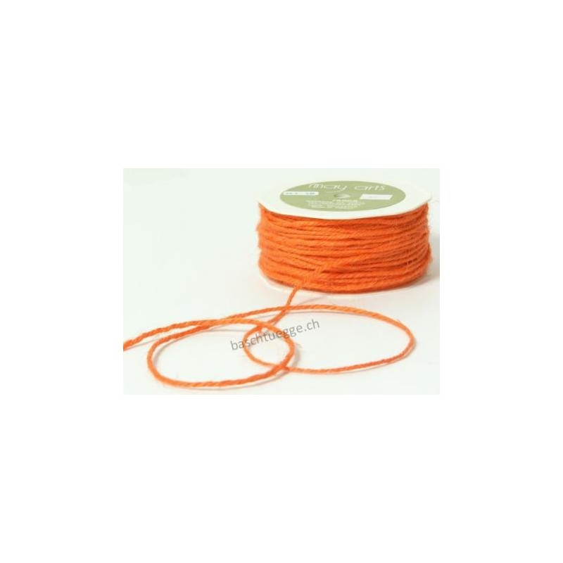 Burlap String - Orange_11725