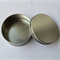 Tin Can CD Case Round Open Lid