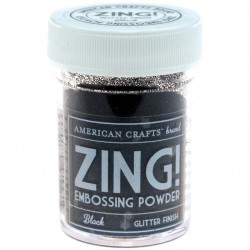 ZING! Embossing Powder - Glitter Black_18001