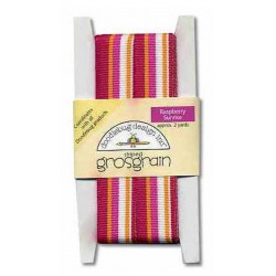Rasberry sunrise striped Grosgrain Ribbon_18481