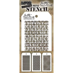 Mini Layered Stencil Set 3/Pkg - Set #27_19081