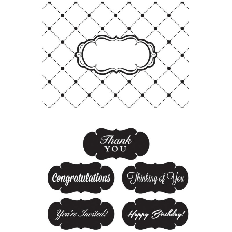 Embossing Folder - Thank You_23089