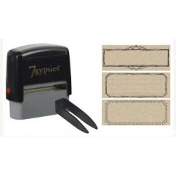 Interchangeable Rectangle Stamp With Hand Drawn Se_29701