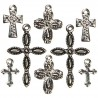 Charms - Cross Silver Black_35089