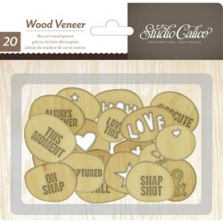 Printshop Wood Veneer Shapes - Circles with Words_39625