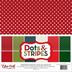 Dots & Stripes Silver Foil...