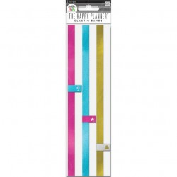 Happy Planner - Elastic Bands - pink,blue,gold_41437
