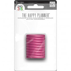 Planner Discs - clear pink...
