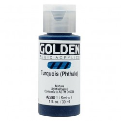 Golden Fluid Acrylic Paints - Turquoise Phthalo_41761