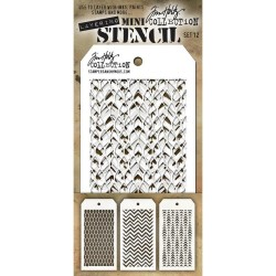 Mini Layered Stencil Set 3/Pkg - Set #12_42301