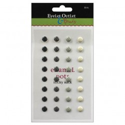 Enamel Dots - Gray_4513