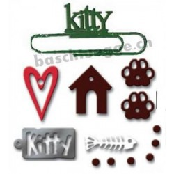 Kitty Metal Accents