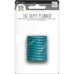 Planner Discs - clear teal - medium_50425