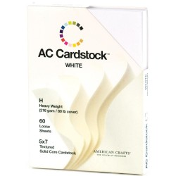 "White Cardstock Pack - 5""x7"""