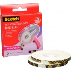 Scotch Advanced Tape Glider Acid-Free Refills 2/Pk_56857