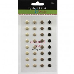 Enamel Dots - Brown_57205