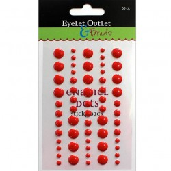 Enamel Dots - Red
