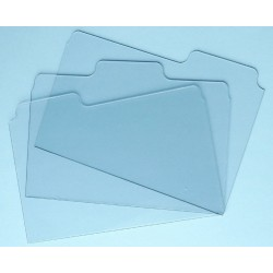Acrylic Folder Tabs Clear