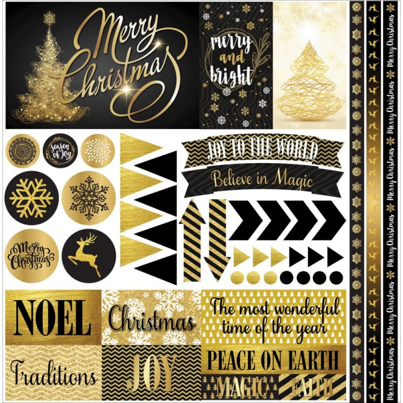 Elegant Christmas Elements Stickers_72140