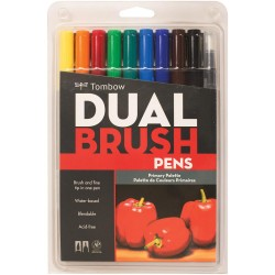 Dual Brush Markers Set - Primary_72191