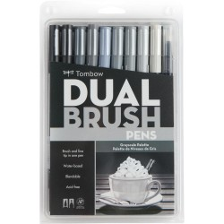Dual Brush Markers Set - Grayscale_72209
