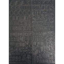 newsprint Chipboard Alphabet