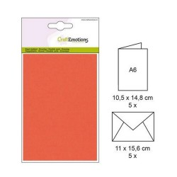 carte & enveloppe A6, orange