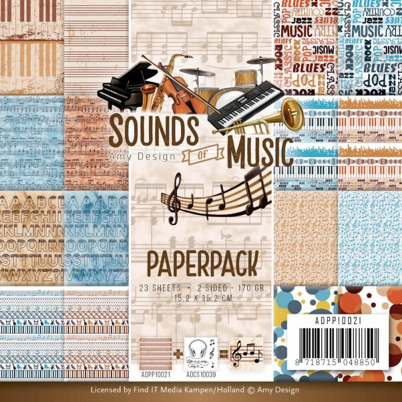 """Sounds of Music Paper Pad 6""""X6""""_72902"""