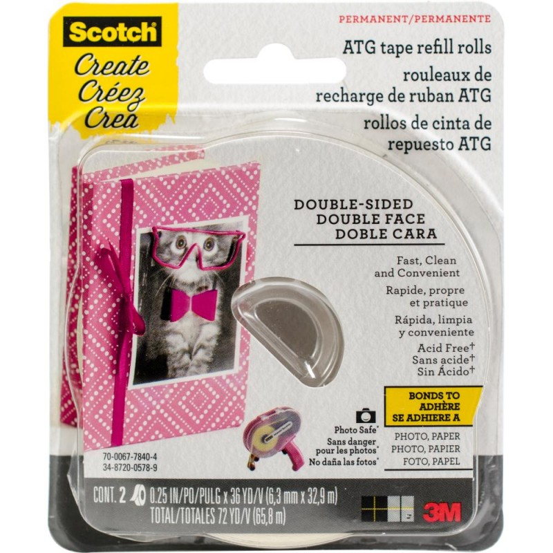 Scotch Advanced Tape Glider Acid-Free Refills 2/Pk_72977