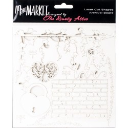 Archival Chipboard  - Love White_73047