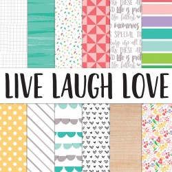 Live Laugh Love - 12 x 12 paper collection_73189
