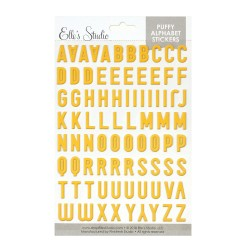 Yellow - Puffy Alphabet Stickers_73213