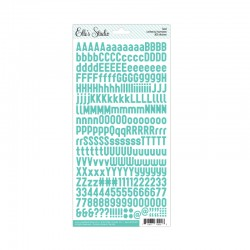 Letter & Numbers Stickers - Teal_73217
