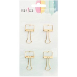 Metal Binder Clips - Gold