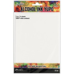 "Tim Holtz Alcohol Ink White Yupo Paper 5"" x7""_73923"