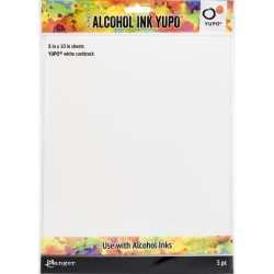 "Tim Holtz Alcohol Ink White Yupo Paper 8""x10""_73928"