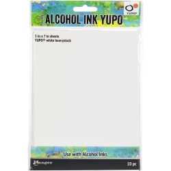"Tim Holtz Alcohol Ink White Yupo Paper 5"" x7""_73930"
