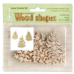 Wood shapes Christmas trees_74405