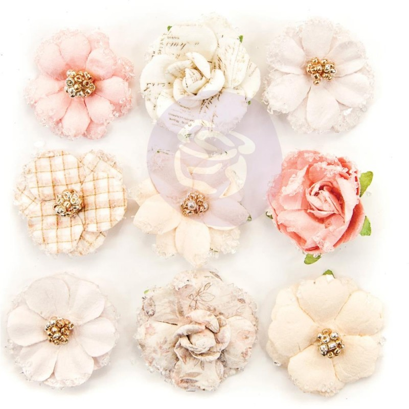 Lavender Frost Mulberry Paper Flowers - 12th Night_74488