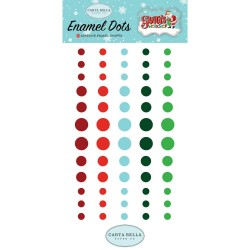 Santa`s Workshop Enamel Dots