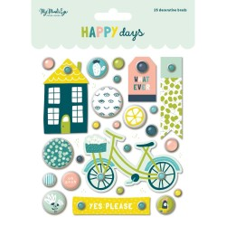 Happy Days Decorative Brads_74760