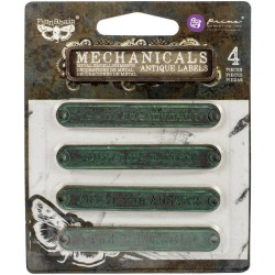 Mechanicals Metal Embellishments - Antique Labels_74935