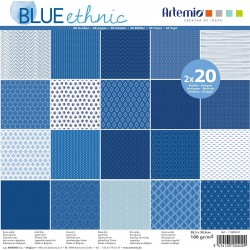 Paper Set Blue Ethnic