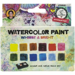 Watercolor Painting Set - Whimsy & Bright W/Tray_75501