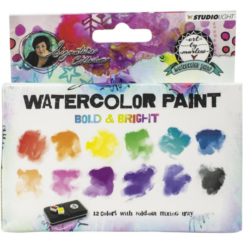 Watercolor Painting Set - Bold & Bright  W/Tray_75509