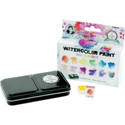 Watercolor Painting Set - Bold & Bright  W/Tray_75510