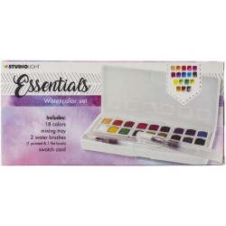 Watercolor Painting Set - 18 colors_75513