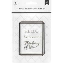 Embossing Folders & Stamps Set - Welcome_75696