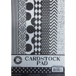 Cardstock Paper Pad - Black & Ivory 5x7_75818