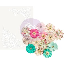 Mulberry Paper Flowers - Ashby/Misty Rose W/Stenci_76025